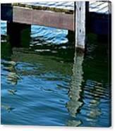 Reflections At The Marina Canvas Print