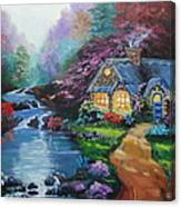 Reflections Cottage Canvas Print