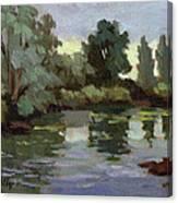 Reflections Duwamish River Canvas Print