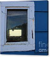 Reflections In A Shed Window - Curiosity - Fishing Canvas Print