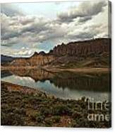 Reflections In Blue Mesa Canvas Print