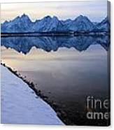 Reflections In Jackson Lake Canvas Print