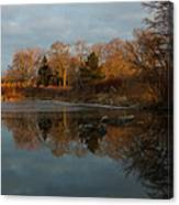 Reflections In My Favorite Pond Canvas Print