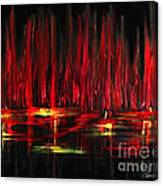 Reflections In Red Canvas Print
