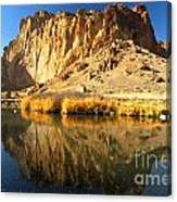 Reflections In The Crooked River Canvas Print