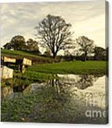 Reflections In The Flood  Canvas Print