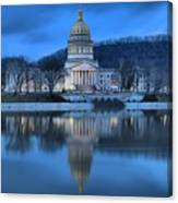 Reflections In The Kanawha River Canvas Print