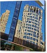 Reflections In The Rolex Bldg. Canvas Print