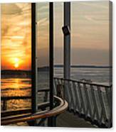 Reflections Of A Chesapeake Sunset Canvas Print