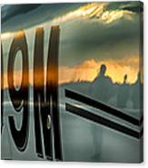 Reflections Of A Sunset Flight Canvas Print