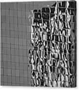 Reflections Of Architecture In Balck And White Canvas Print