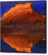 Reflections Of Miner Butte Canvas Print