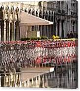 Reflections Of Saint Mark's Square -day Canvas Print