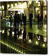 Reflections Of Saint Mark's Square-night Canvas Print