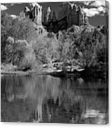 Reflections Of Sedona Black And White Canvas Print