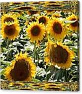 Reflections Of Sunflowers Canvas Print