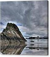 Reflections Of Tenby 2 Canvas Print