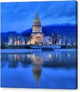 Reflections Of The West Virgina Capitol Building Canvas Print