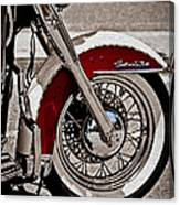 Reflections On A Motorcycle Canvas Print