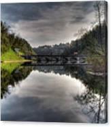 Reflections On Adda River Canvas Print