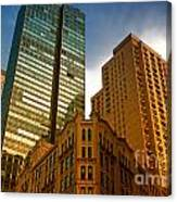 Reflections On Buildings Nyc Canvas Print