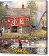 Reflections On Country Living Canvas Print