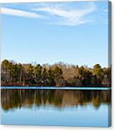 Reflections On Long Pond Canvas Print