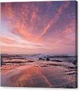 Reflections On North Jetty Dusk Canvas Print