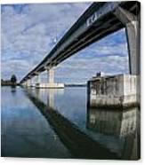 Reflections On Samoa Bridge Canvas Print