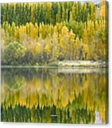 Reflections On The Columbia Canvas Print