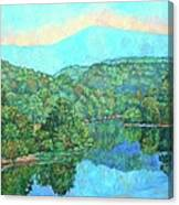 Reflections On The James River Canvas Print