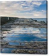 Reflections On The South Spit Canvas Print