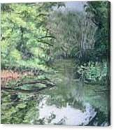 Reflections On The Valley River Canvas Print