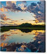 Reflections On The Water Canvas Print
