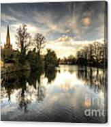 Reflections Over Lichfield Canvas Print