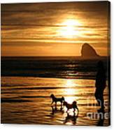 Reflections-peace At Sunset Canvas Print