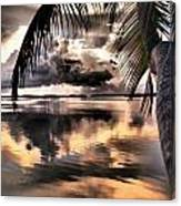 Reflections Through The Palm Canvas Print
