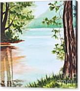 Reflections At Cowans Gap Canvas Print