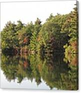 Reflections Two At Pearce Lake Breakheart Canvas Print