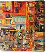 Reflections - Villefranche Canvas Print