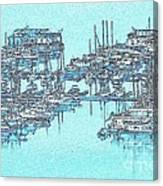 Reflective Blue Canvas Print