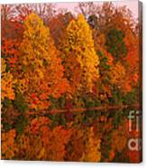 Reflective Lake Nockamixon Pano - Twilight Canvas Print