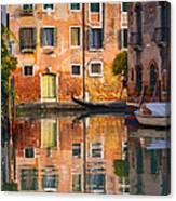 Reflective Moment In Venice Canvas Print