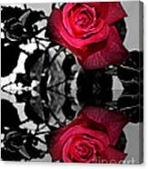Reflective Red Rose Canvas Print