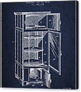 Refrigerator Patent From 1901 - Navy Blue Canvas Print