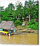 Refueling Along The Amazon River-peru  Canvas Print
