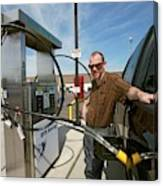 Refuelling A Natural Gas Vehicle Canvas Print