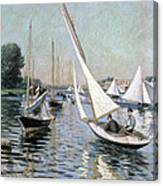 Regatta At Argenteuil Canvas Print
