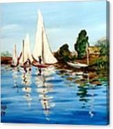 Regatta De Argenteuil Canvas Print