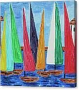 Regatta Canvas Print